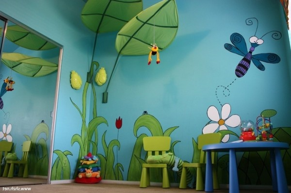 Kids Room Wallpaper Mural Ideas Cartoon Theme 1536 Anoninterior throughout Kids Room Murals